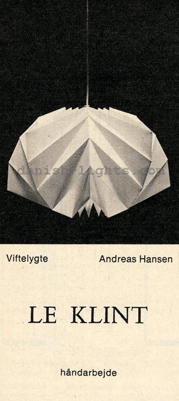 Andreas Hansen for Le Klint: Viftelygte