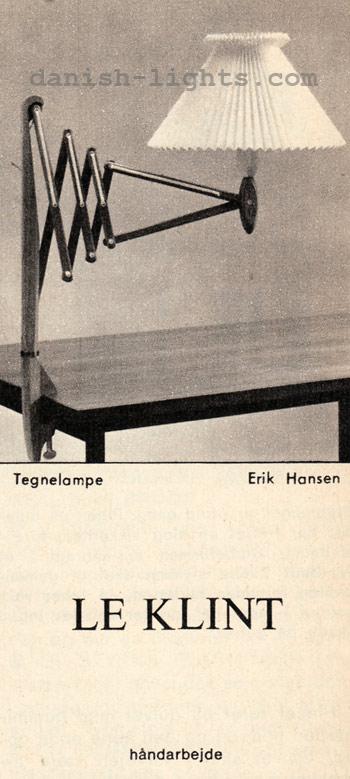 Erik Hansen for Le Klint: Tegnelampe