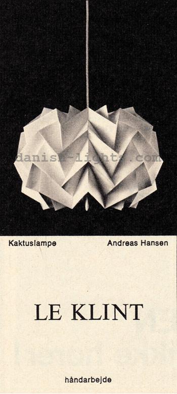 Andreas Hansen for Le Klint: Kaktuslampe