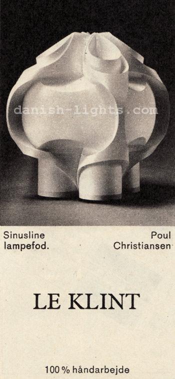 Poul Christiansen for Le Klint: Sinusline table lamp