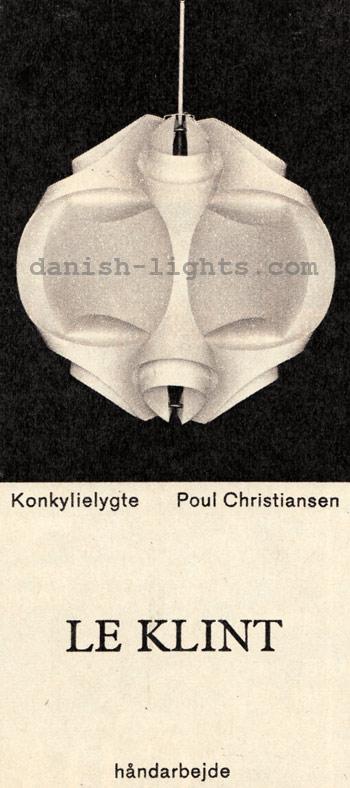 Poul Christiansen for Le Klint: Konkylielygte