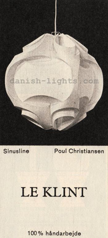 Poul Christiansen for Le Klint: Sinusline pendant