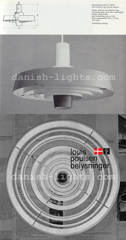 Finn Monies & Gunnar Jensen for Louis Poulsen: Bornholmpendel
