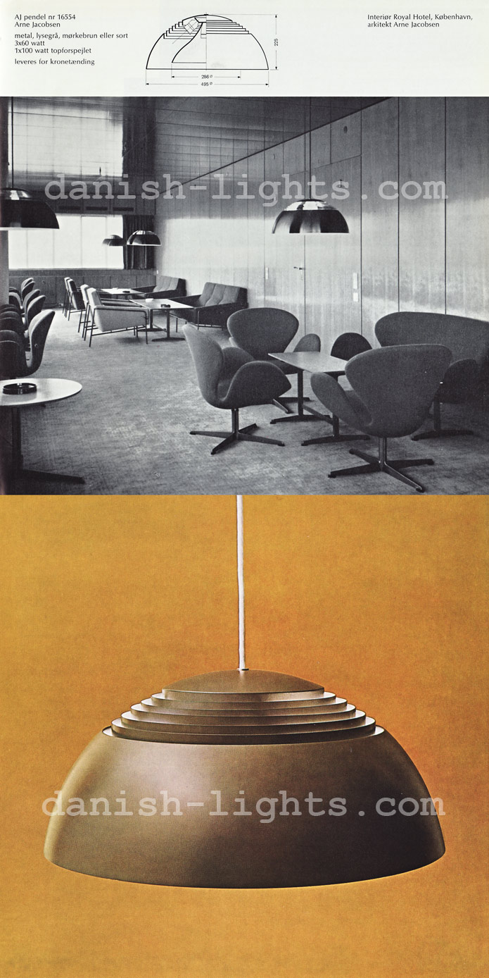 Arne Jacobsen for Louis Poulsen: AJ Pendel 16554