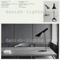 Arne Jacobsen for Louis Poulsen: AJ table lamps 23521 and 24059 10