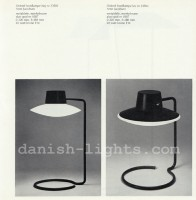 Arne Jacobsen for Louis Poulsen: Oxford table lamps 23502 (high) and 23504 (low)