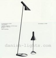 Arne Jacobsen for Louis Poulsen: AJ floor lamp 28709, AJ table lamp 24059 1