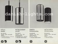 Unspecified designer for Lyfa: Köln, Burgdorff, Essen, München