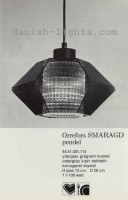 Unspecified designer for Lyfa: Orrefors Smaragd pendant light