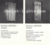 Unspecified designer for Lyfa: Orrefors Medea, Orrefors Geffion