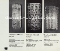 Unspecified designer for Lyfa: Orrefors Geffion, Orrefors Venus, Orrefors Medea