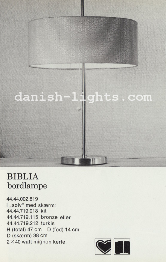 Unspecified designer for Lyfa: Biblia