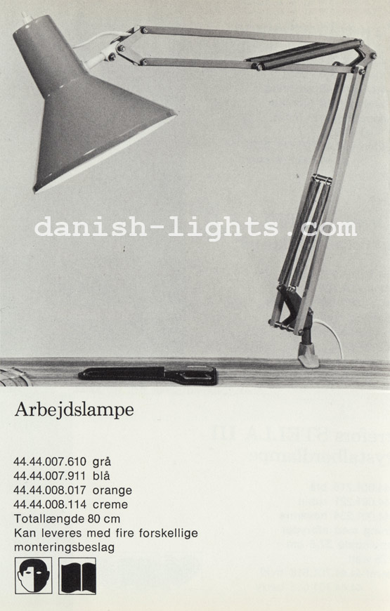 Unspecified designer for Lyfa: Arbejdslampe