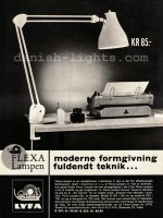 Unspecified designer for Lyfa: Flexa-lampen