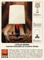 Unspecified designer for Lyfa: Orrefors table lamps B309, B310, B311, B350, B348