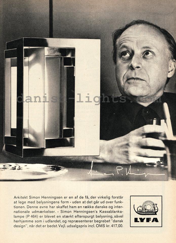 Simon P Henningsen for Lyfa: P464 Kassablanka-lampe