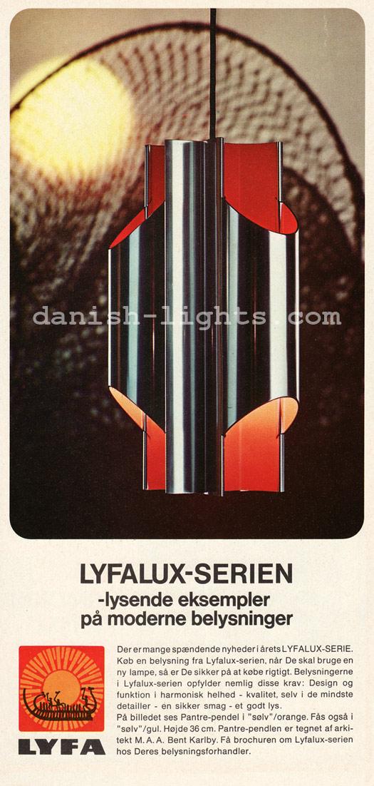 Bent Karlby for Lyfa: Pantre-pendel