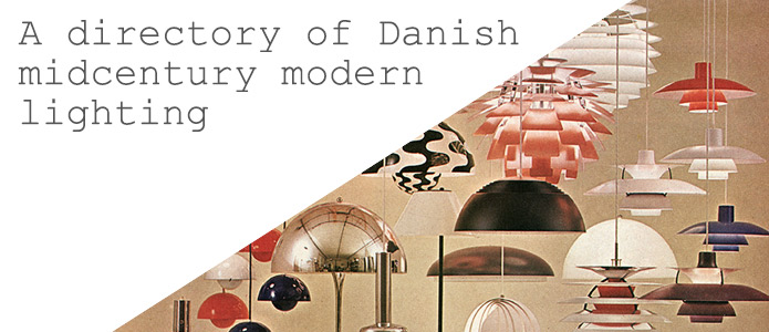 A directory of midcentury modern Danish lamps 1