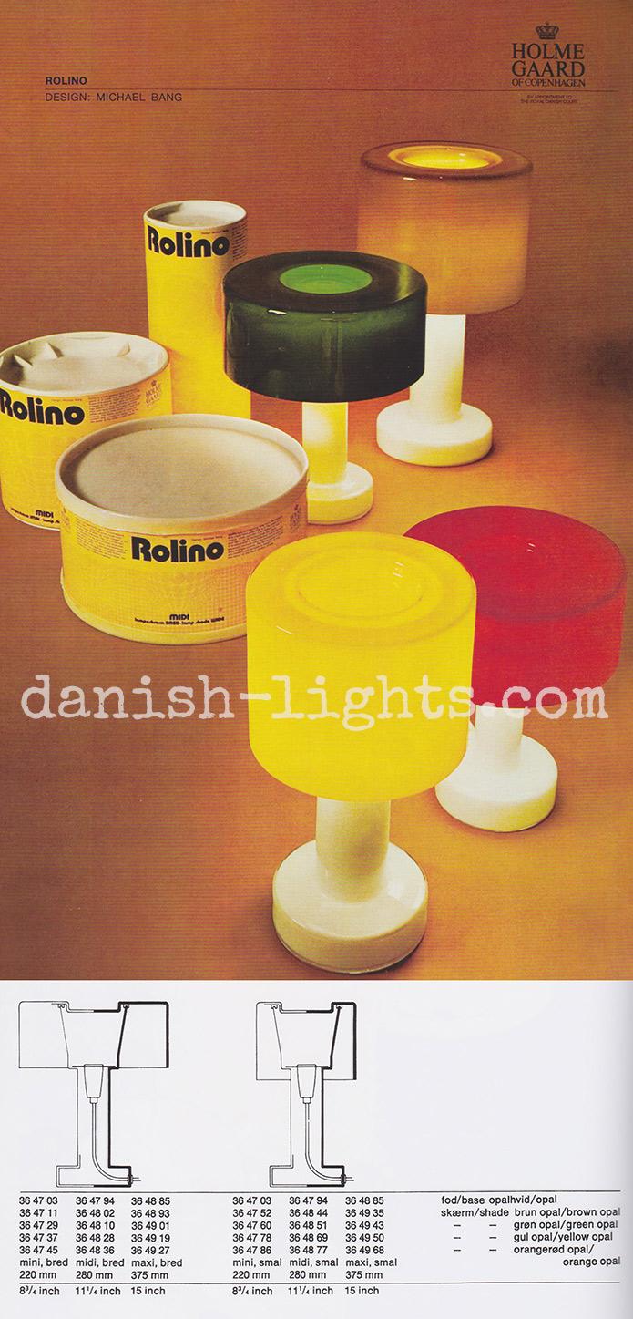 Michael Bang for Holmegaard: Rolino